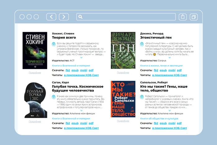 Научно-популярные книги в открытом доступе