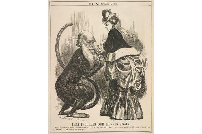 Карикатура наЧарльза Дарвина 1872го...