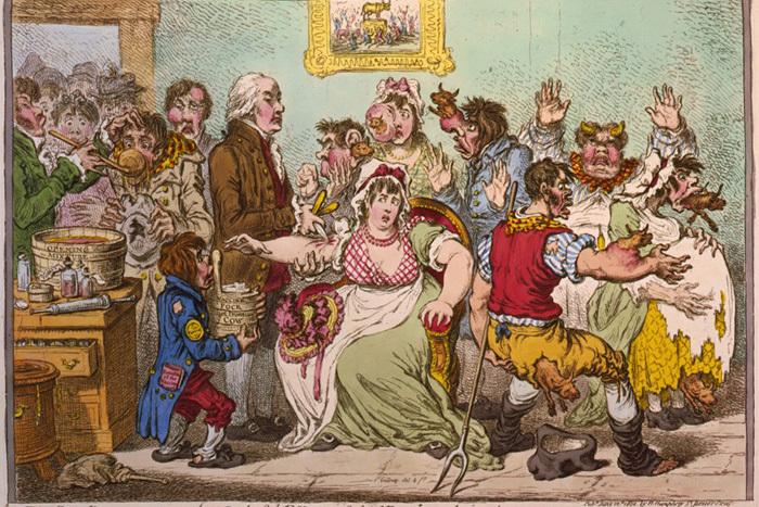 Иллюстрация Джеймса Гилрея 1802года, посв...