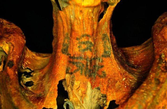 Татуировка египетской жрицы Хатхор