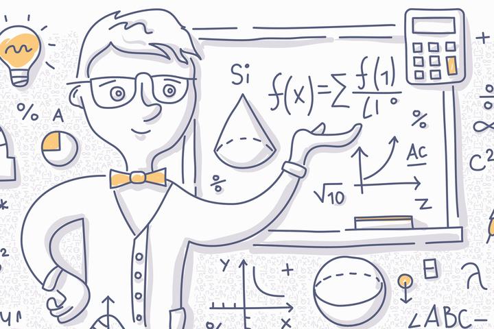 Как нарисовать математическую картинку карандашом, поздравительные