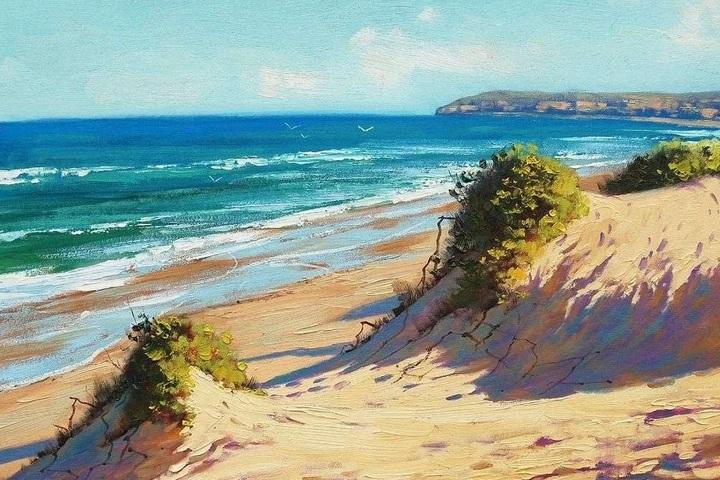 Мастер-класс по живописи  «Дикий пляж» (масло)