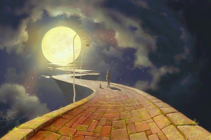 Мастер-класс по живописи  «Лунная дорога» (масло)