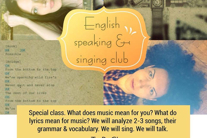English speaking and singing club
