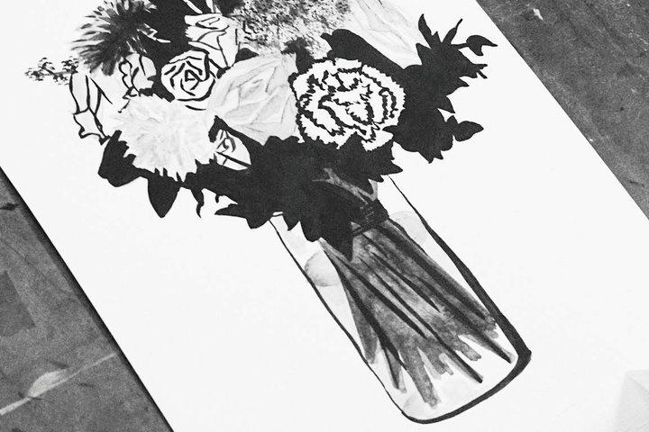 Мастер-класс по рисованию цветов тушью