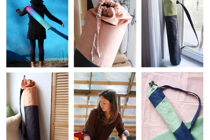 МК по шитью чехлов для йога ковриков
