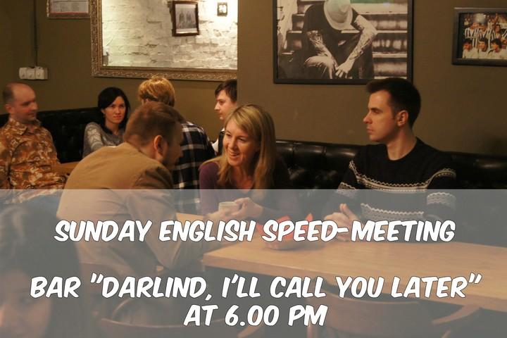 Sunday English Speed-Meeting at Kitay-Gorod!
