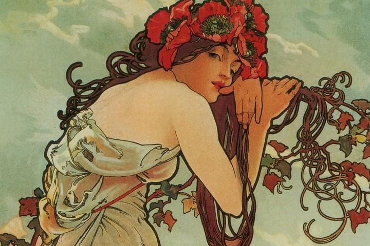 Модерн. Стиль женщин и цветов