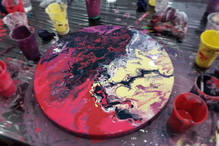 Мастер-класс по Fluid Art