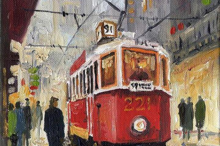 "Арт-вечеринка ""Трамвай ""Желание"". Draw Up Studio в ресторане La Scala. Мастер-класс по живописи"
