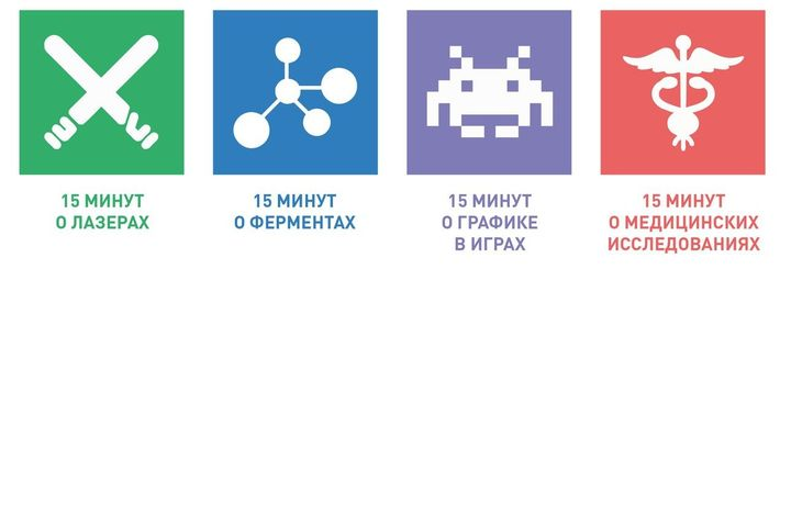 15x4. лазеры. ферменты. графика в играх. мед исследования