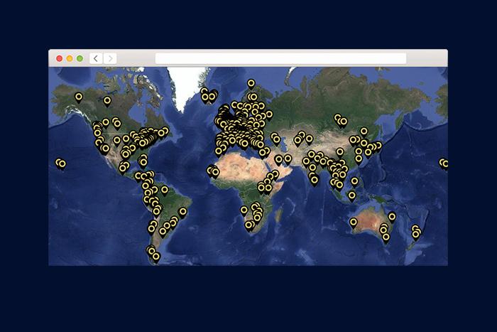 Находка T&P: карта звуков разных городов и стран