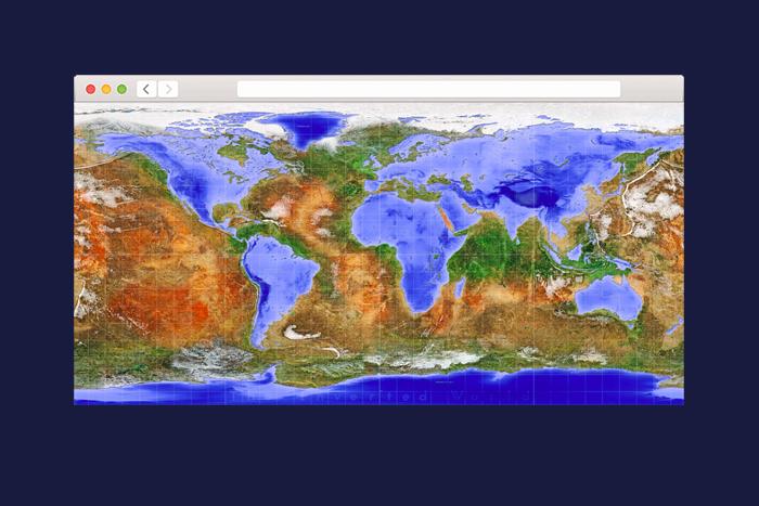 Карта мира наизнанку