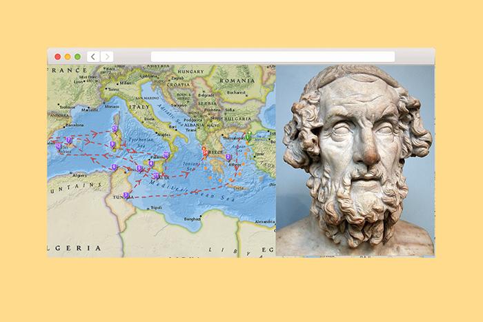 Интерактивная карта странствий Одиссея